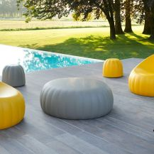 Candy ottoman - soft yellow small
