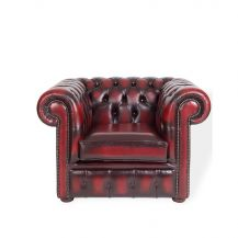 Chesterfield Armchair Oxblood Leather