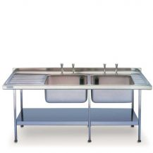 Double Sink Unit With Drainer