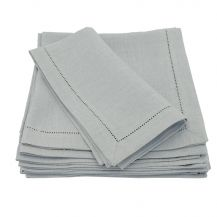 Hemstitched Linen Napkin Grey 20in x 20in