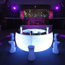 Ice Round Bar Unit, Illuminated (1/4 Unit)