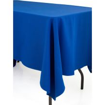 Linen Tablecloth Blue 72in x 144in