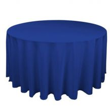 Linen Tablecloth Blue Round 120in