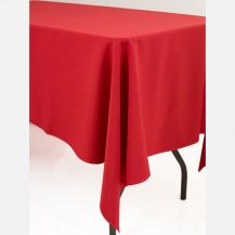 Linen Tablecloth Red 90in x 90in