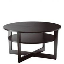 Low Disc Coffee Table Dark Brown Black