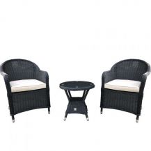 Milan Rattan Bistro Outdoor Table and Chairs Set