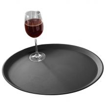 Non Slip Bar Tray Black 14in