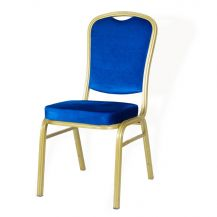 Padded Banquet Chair Blue