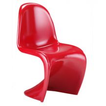 Panton S Shape Chair Gloss Red