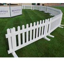 Picket Fence White 2m