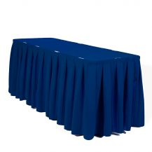Linen Table Skirting Dark Blue 21ft/252in