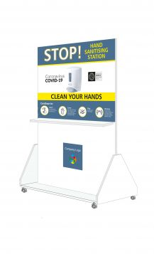 Portable Freestanding Hand Sanitising Station Double sided FOR SALE