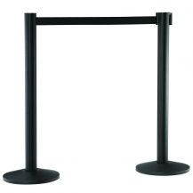 Black Retractable Belt Barrier