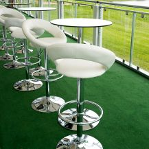 Pod Table Glass Round - Tall