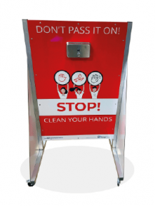 Portable, Free-Standing Hand Sanitizer Unit